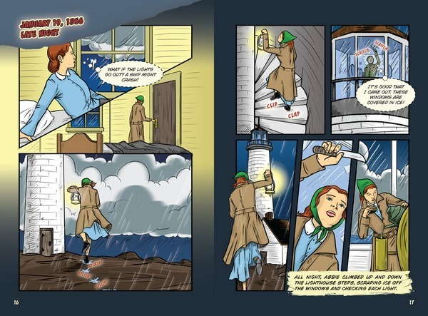 The Stormy Adventure of Abbie Burgess, Lighthouse Keeper (Historys Kid Heroes)