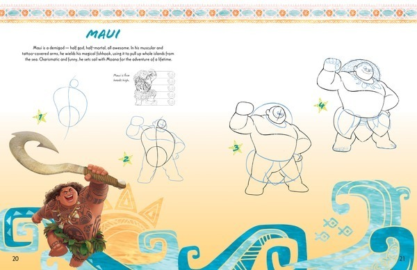 Learn to draw Moana and other favorite characters step by step! Maui Learn to Draw Disneys Moana