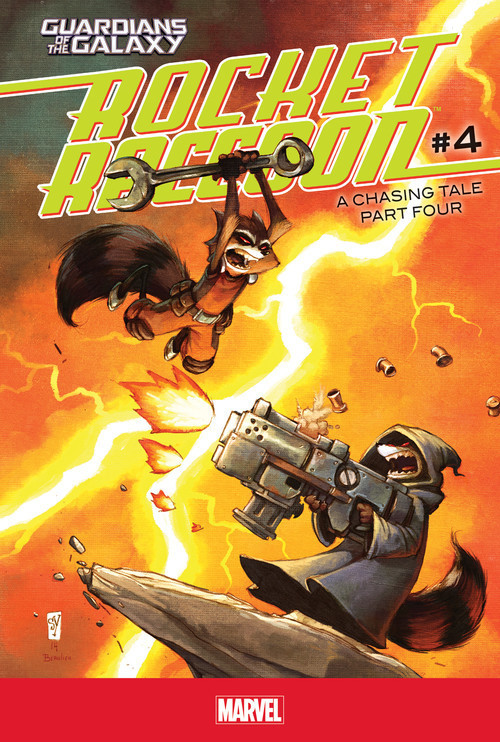 Cover: Rocket Raccoon #4: A Chasing Tale Part Four